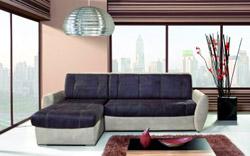 Prostorná a pohodlná sedací souprava, vhodná i pro každodenní spaní.