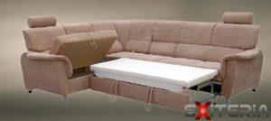 Během chvíle máte ze sedačky postel. Rozkládání není na škodu.