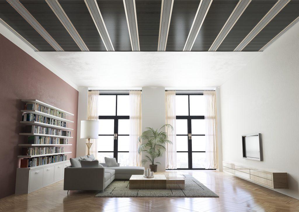 ECOFILM vizualizace stropniho vytapeni