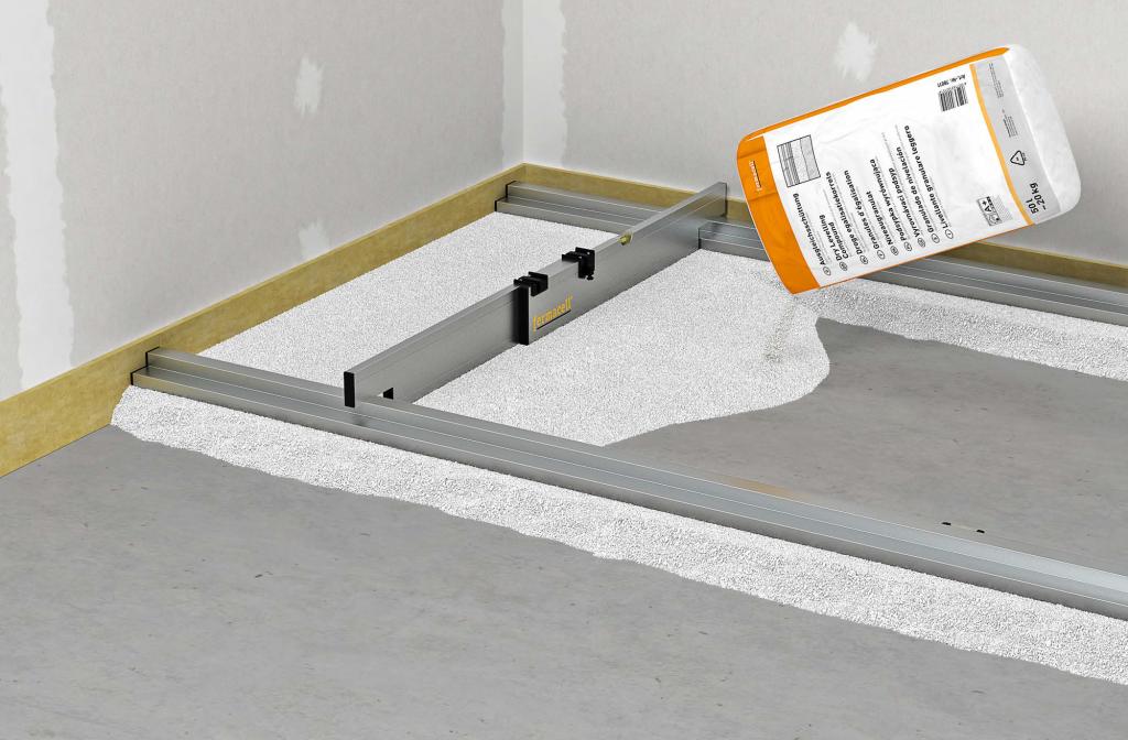 Suchá podlaha představuje rychlé a snadné systémové řešení, které maximálně odlehčí nosnou konstrukci stavby. Jednou z kvalitních variant pro vyrovnání podkladu je vyrovnávací podsyp Fermacell. Speciální pórobetonový minerální granulát má zrnitost od 0,2 mm do 4 mm a třídu reakce na oheň A1. Fermacell