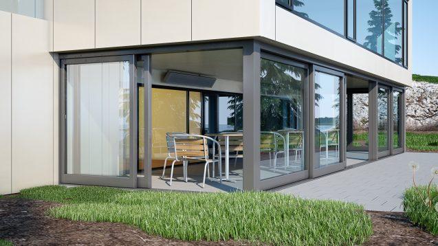 Elektrické sálavé panely Ecosun TH zajistí zónový ohřev prostor chráněných proti větru a dešti. Lze je použít do teplot +5 °C. Instalace min. 180 cm nad podlahou, mezi stropem a horní hranou panelu nutný odstup 30 cm. Příkon 1 000 nebo 1 500 W